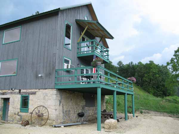 Vacation Cabin Rental at Winnebago Valley Hideaway called The Mill